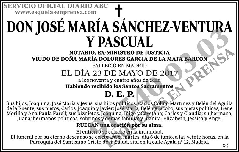 José María Sánchez-Ventura y Pascual